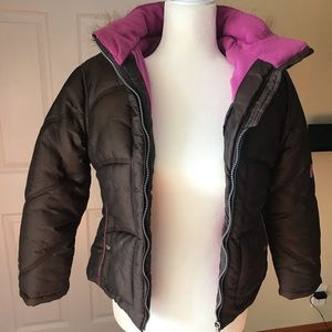 Hawke and Co Girls Puffer Brown jacket size 14